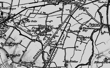 Old map of Whitemoor Haye in 1898