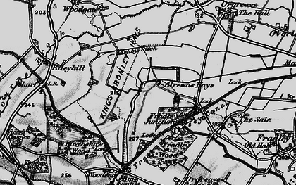 Old map of Ashby Sitch in 1898