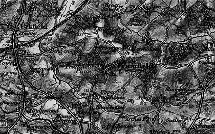 Old map of Framfield in 1895