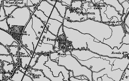 Old map of Wybert's Castle (Earthwork) in 1898