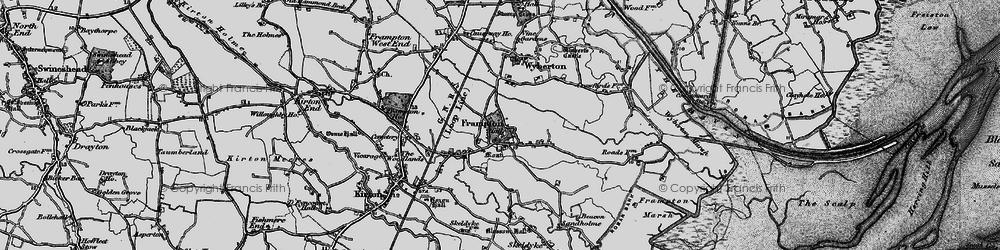 Old map of Wybert's Castle in 1898