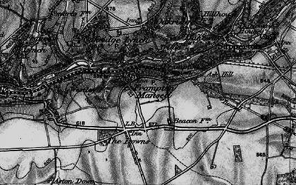 Old map of Ash Hill in 1896