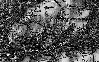 Old map of France Lynch in 1896