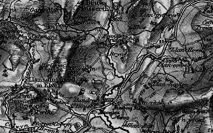 Old map of Allt-y-Coryn in 1899