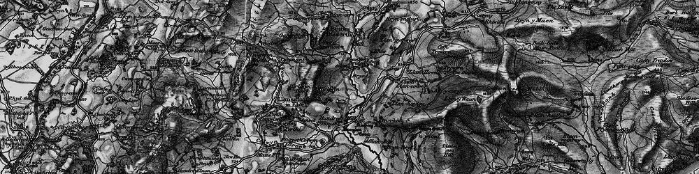 Old map of Allt-y-Coryn in 1899