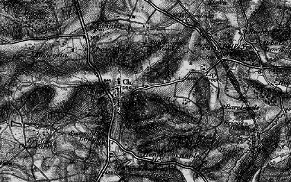 Old map of Frant in 1895