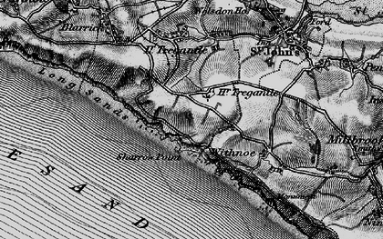 Old map of Freathy in 1896