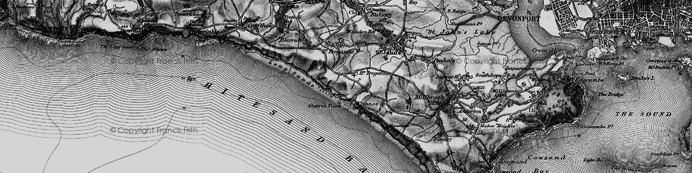 Old map of Lower Tregantle in 1896