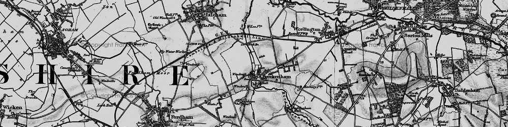 Old map of Lee Brook in 1898
