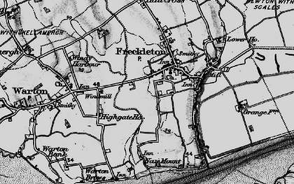 Old map of Freckleton in 1896