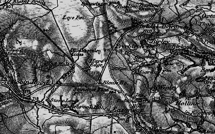 Old map of Whibbersley Cross in 1896