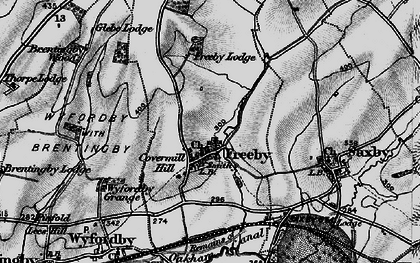 Old map of Freeby in 1899