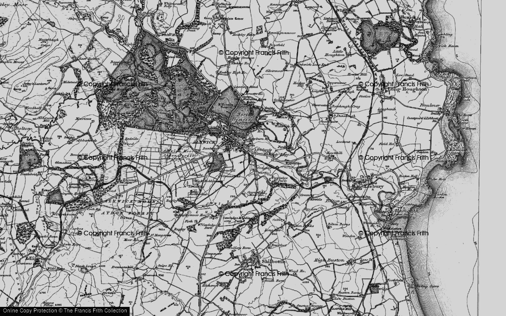 Old Map of Historic Map covering Alndyke in 1897
