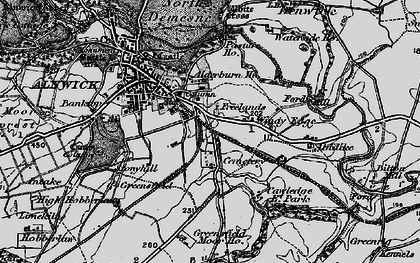 Old map of Allerburn Ho in 1897