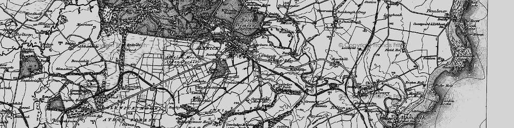 Old map of Allerburn Ho in 1897