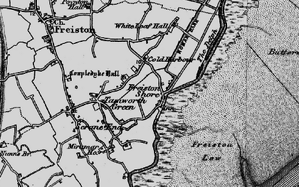 Old map of White Loaf Hall in 1898