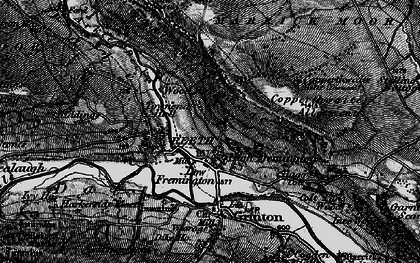 Old map of Fremington in 1897