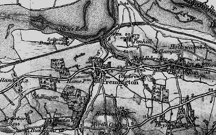 Old map of Fremington in 1898