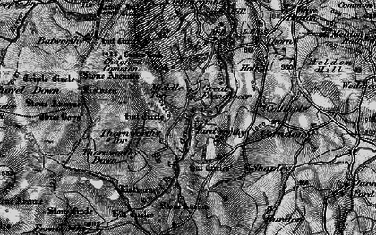 Old map of Assycombe Hill in 1898