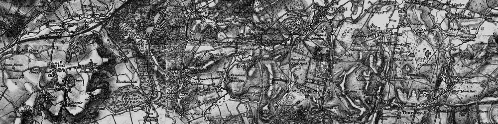 Old map of Frensham in 1895
