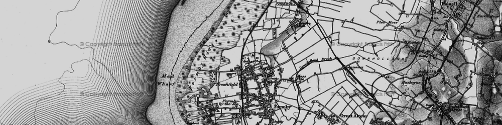 Old map of Woodvale Airfield in 1896