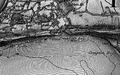 Old map of Freshwater Bay in 1895
