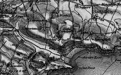 Old map of Freshwater East in 1898