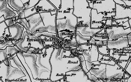 Old map of Whittingham Hall in 1898