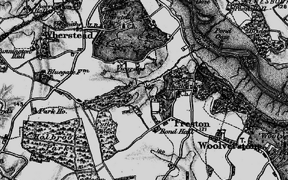 Old map of Freston in 1896
