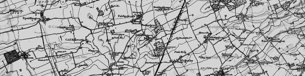 Old map of Wickenby Wood in 1899