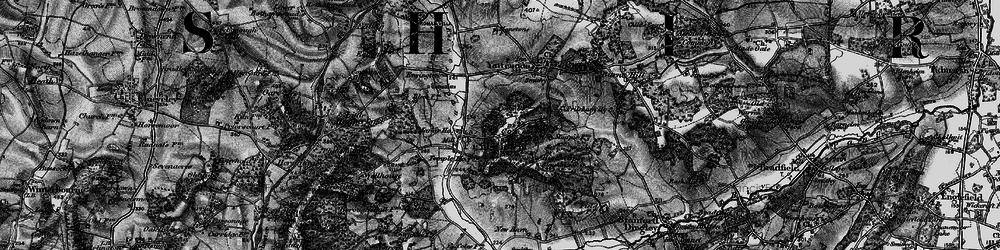 Old map of Frilsham in 1895