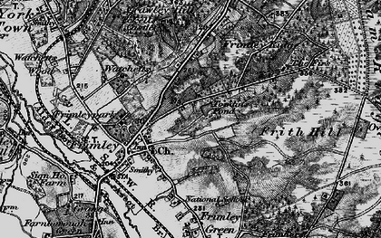 Old map of Frimley in 1895