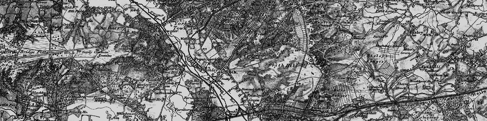 Old map of Tomlin's Pond in 1895