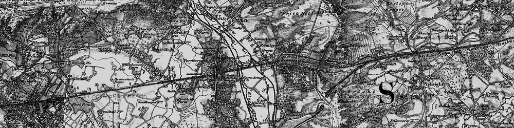 Old map of Frimley Green in 1895