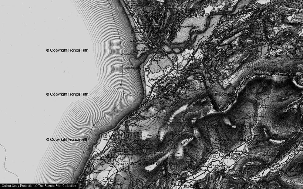 Old Map of Historic Map covering Afon Dyffryn in 1899