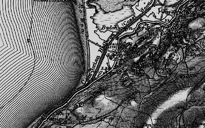 Old map of Afon Dyffryn in 1899