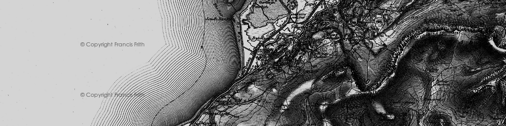 Old map of Friog in 1899