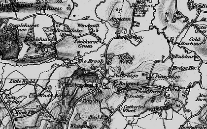 Old map of Frittenden in 1895