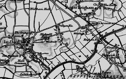 Old map of Fritton in 1898