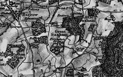 Old map of Wolfe Hall in 1898