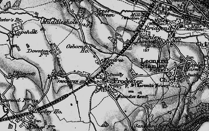 Old map of Frocester in 1897