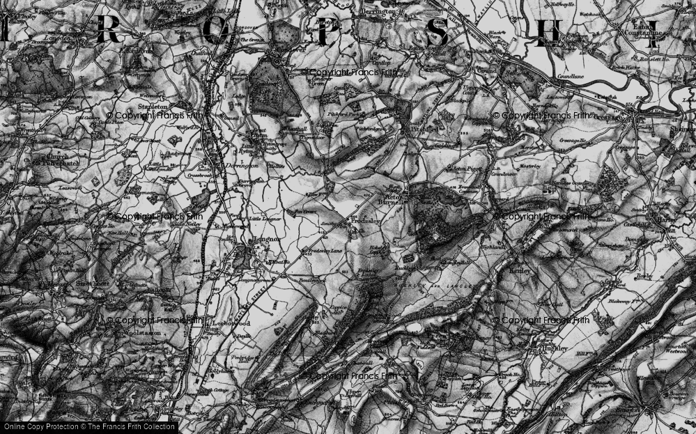 Old Map of Frodesley, 1899 in 1899