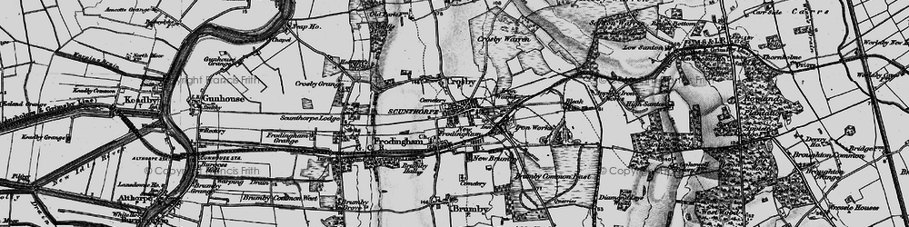 Old map of Frodingham in 1895