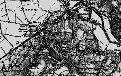 Old map of Frodsham in 1896