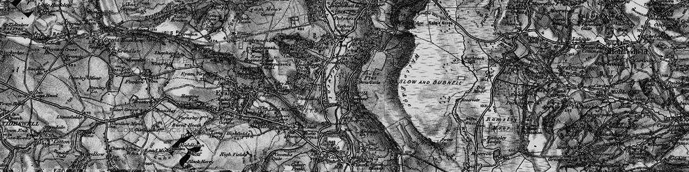 Old map of Froggatt in 1896