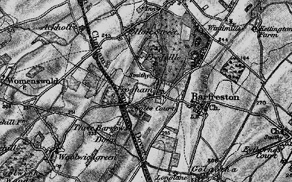 Old map of Frogham in 1895