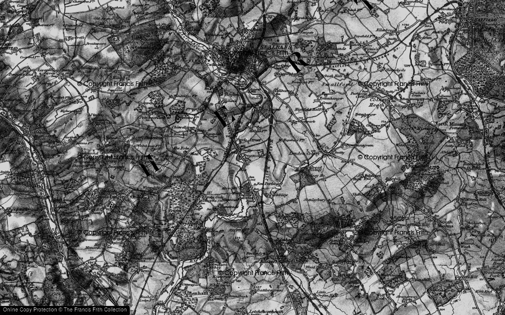 Old Map of Frogmore, 1896 in 1896