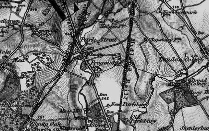 Old map of Frogmore in 1896