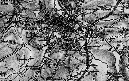 Old map of Frome in 1898