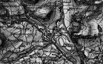 Old map of Afon Mynach in 1898